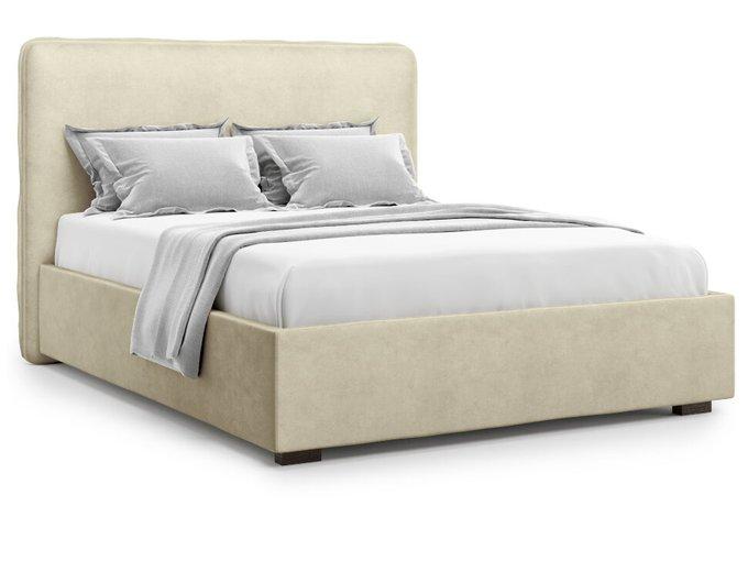 Кровать Brachano 140х200 бежевого цвета с подъемным механизмом