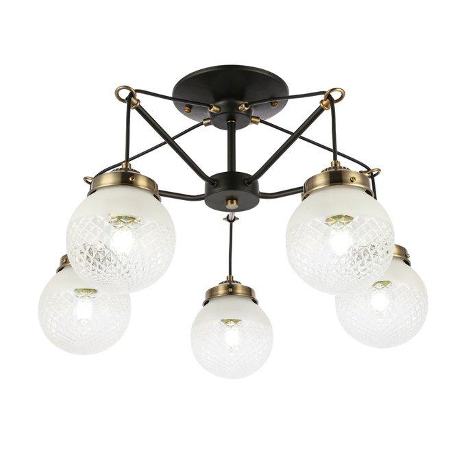 Светильник подвесной Stricce с белыми плафонами