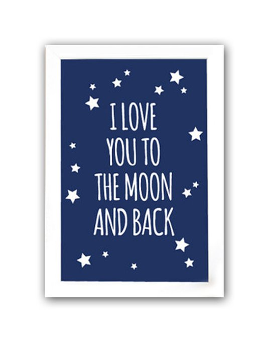 """Постер """"To the blue moon and back"""" А3"""