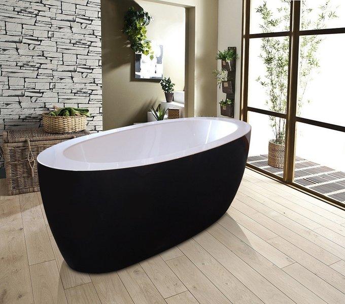 Акриловая Ванна PureScape Черно-Белая