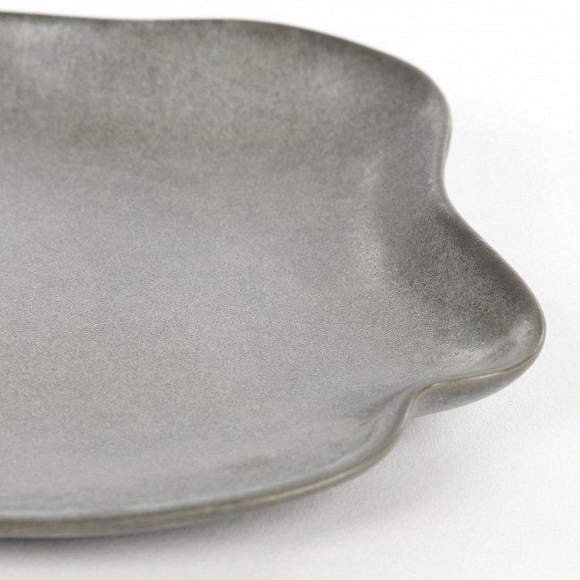 Тарелка Shell серого цвета