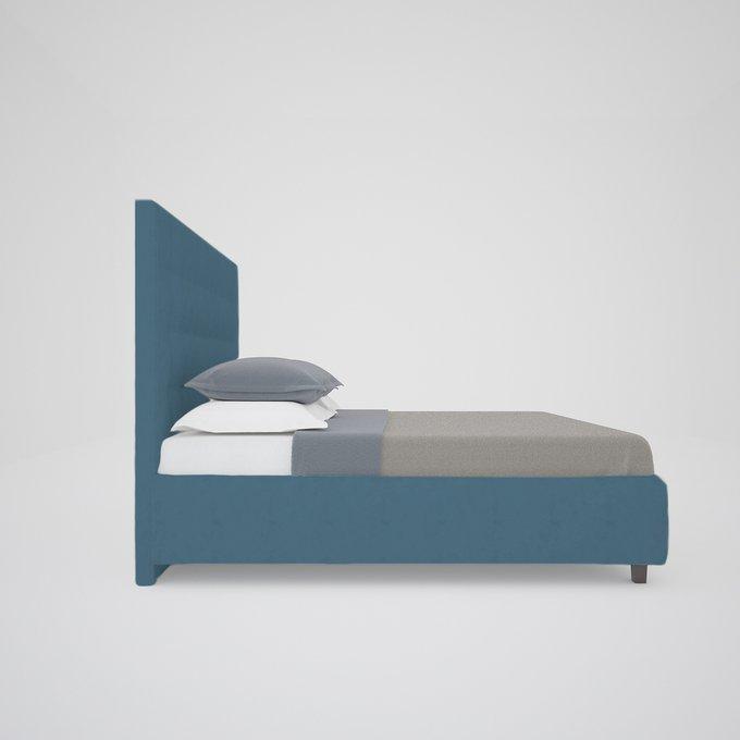 """Кровать """"Royal Black"""" Велюр Морская волна 160х200"""