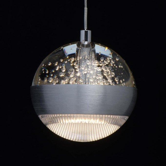 Подвесной светодиодный светильник Капелия серебряного цвета
