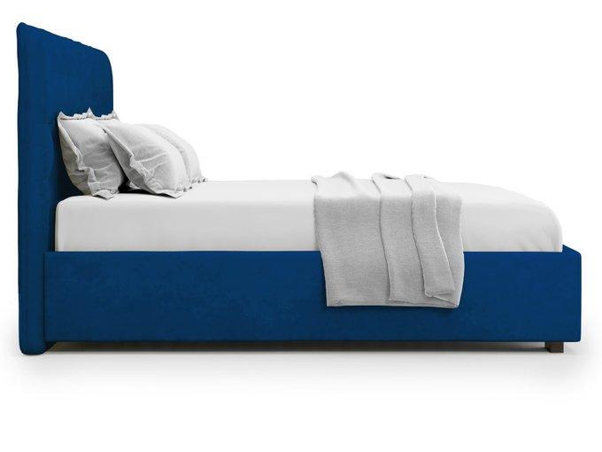 Кровать Brachano 140х200 синего цвета с подъемным механизмом