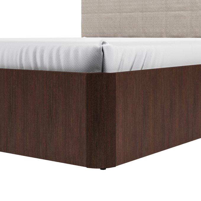 Кровать Магна 180х200 с изголовьем молочного цвета с подъемным механизмом