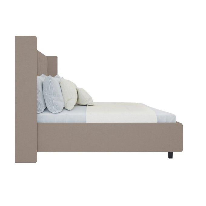 """Кровать """"Wing-2"""" Велюр Серый 160x200"""