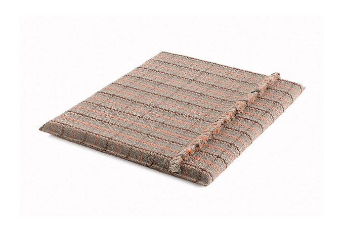 Большой матрац Tartan terracotta терракотового цвета 140х160