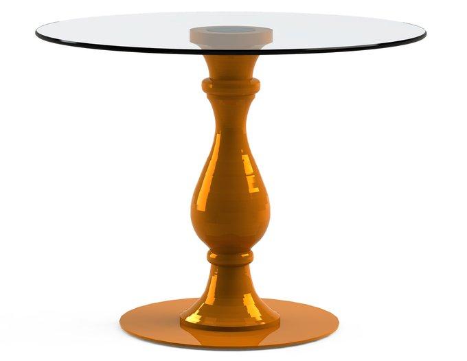 """Обеденный стол """"ADVENTUS Orange"""" с круглой столешницей из закаленного стекла"""