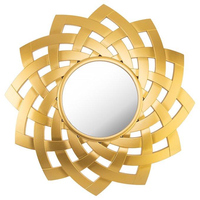 Зеркало настенное Swiss home золотого цвета