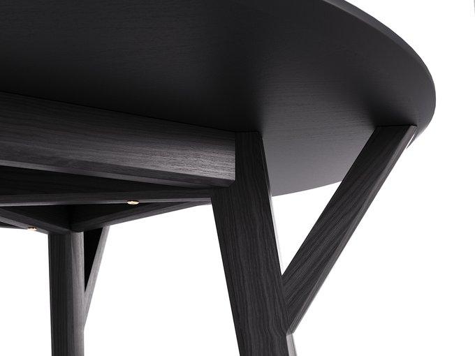 Обеденный стол Circle чёрный дуб / чёрный
