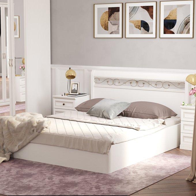 Кровать Белладжио 180х200 белого цвета с подъемным механизмом