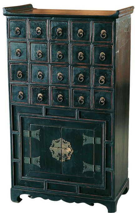 Шкафчик для лекарств с 20 ящиками - Яо-сян. Династия Мин