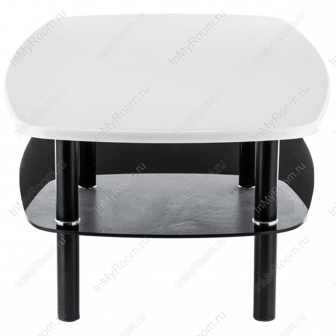 Журнальный стол Neon с черной полкой