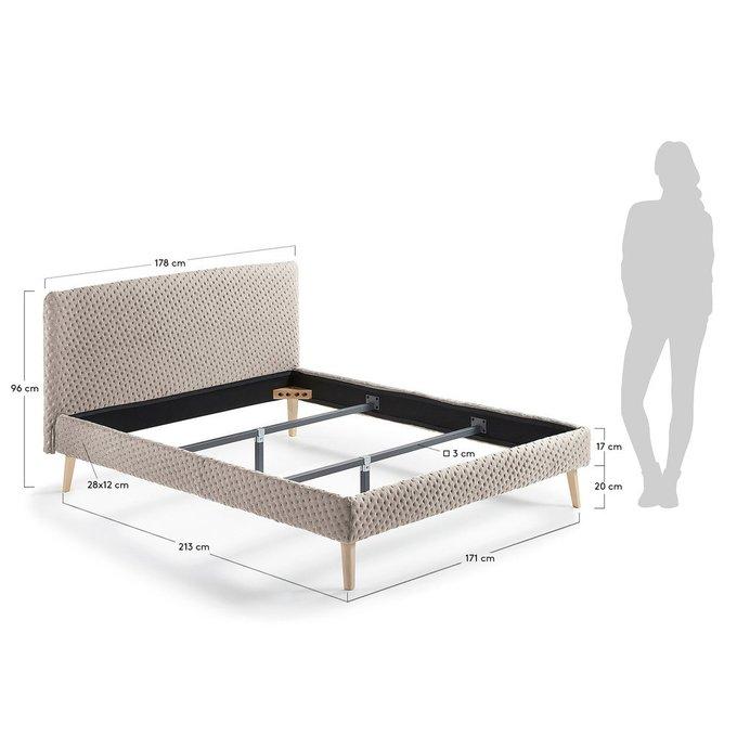 Кровать Lydia бежевая