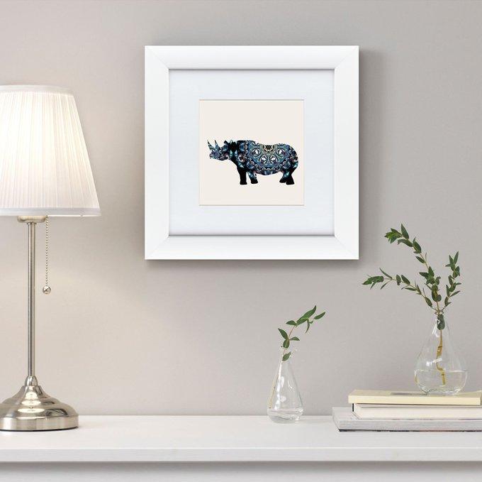 Картина Восточная яркость носорог  2016 г.