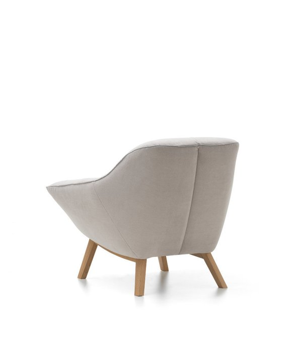 Современное кресло для отдыха Rico Queen серого цвета