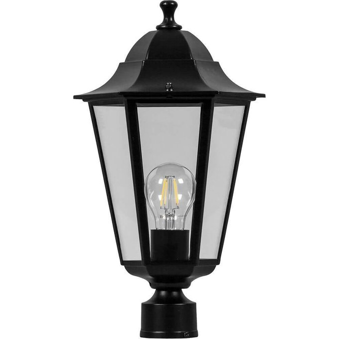 Уличный светильник черного цвета