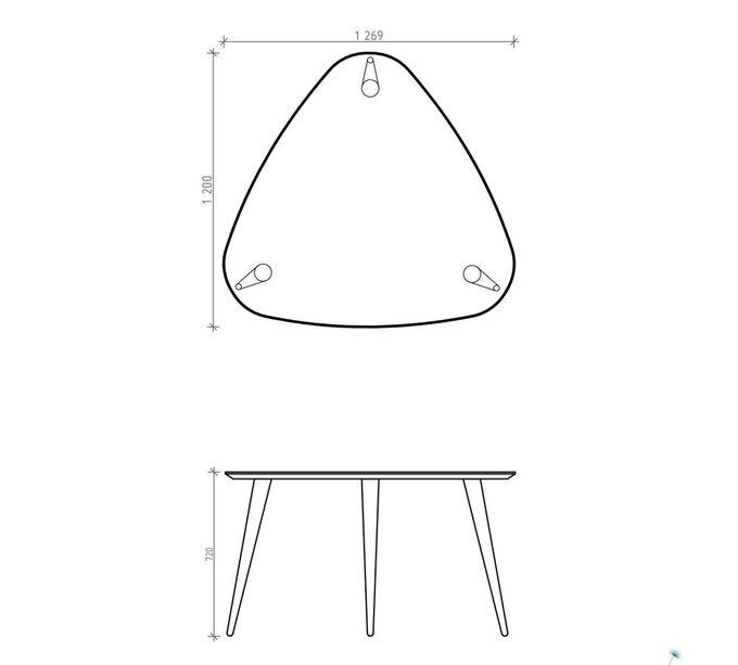 Обеденный стол Shell темно-серый