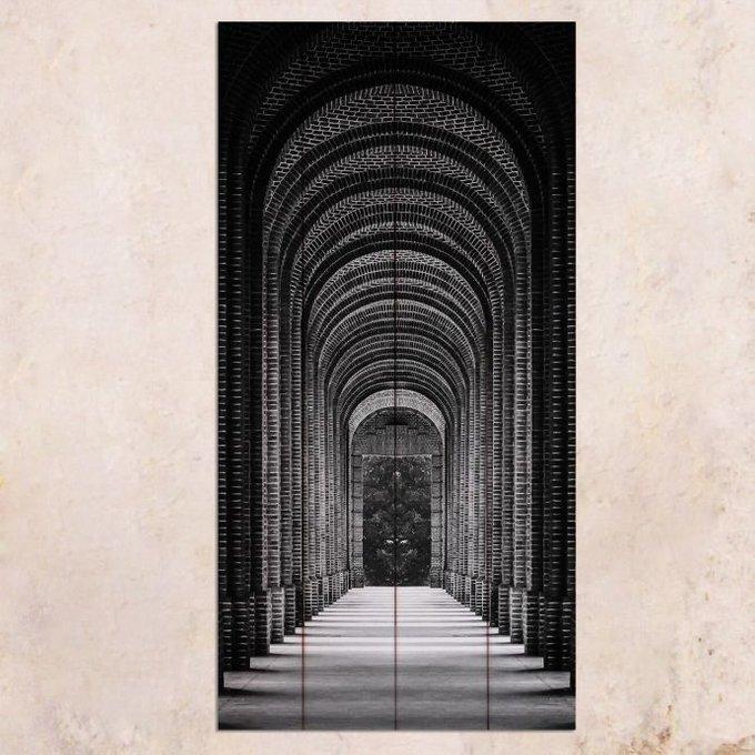Картина на дереве Тоннель 40х80