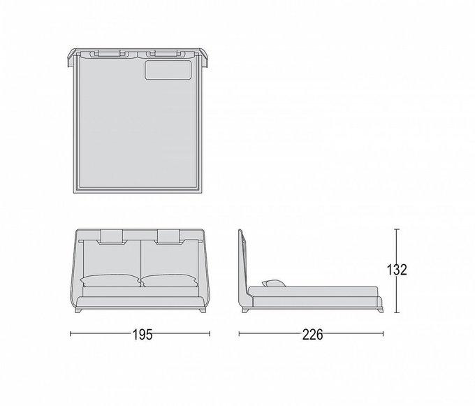 Кровать Tecni Nova серого цвета 180х200