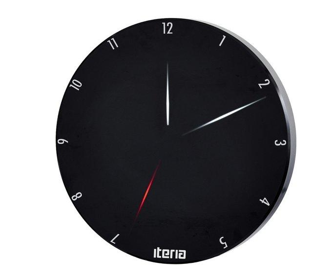 Светодиодные часы Iteria (цвет черный)