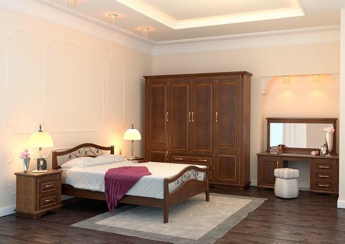 Кровать Верона ясень-каштан 160х200