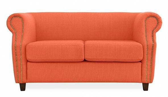Диван прямой Бруклин оранжевого цвета