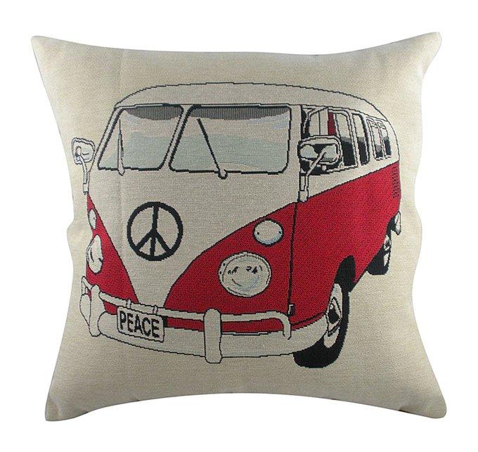 Подушка с принтом Campervan