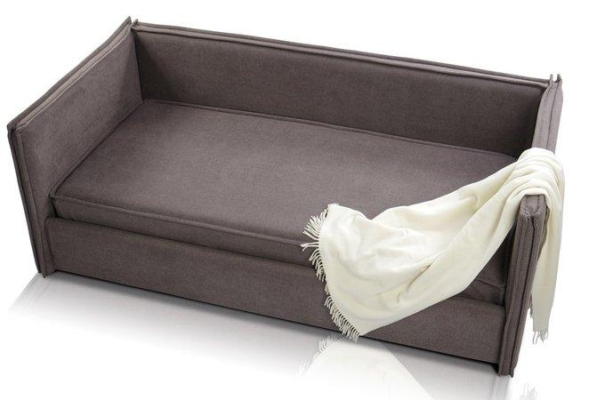 Диван-кровать Solo V1 190х90 с ящиком для белья коричневого цвета
