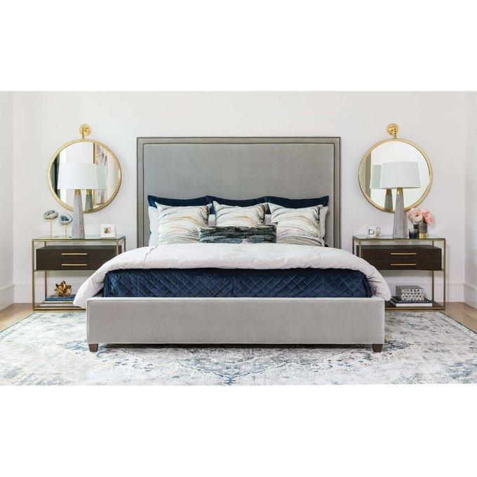 Кровать DakotaD светло-серого цвета 160х200