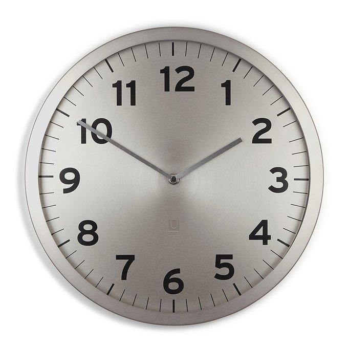 """Настенные часы Umbra  """"anytime"""" никель"""