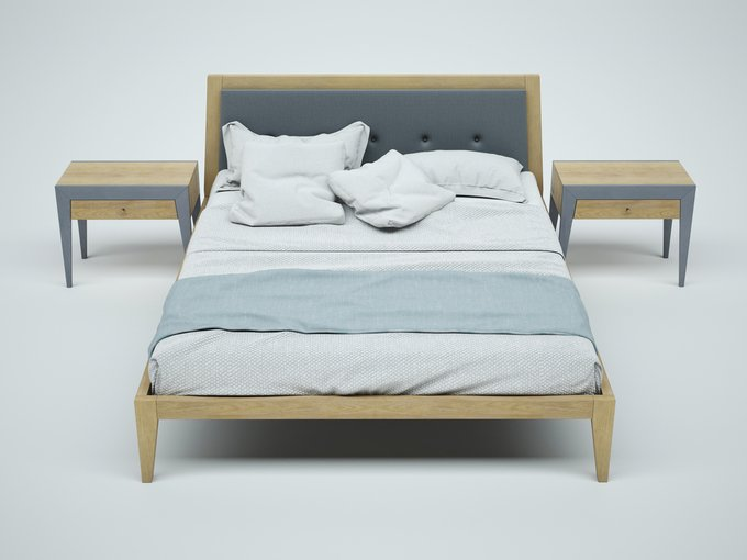 """Кровать """"FLY NEW"""" из массива дуба 140х200"""