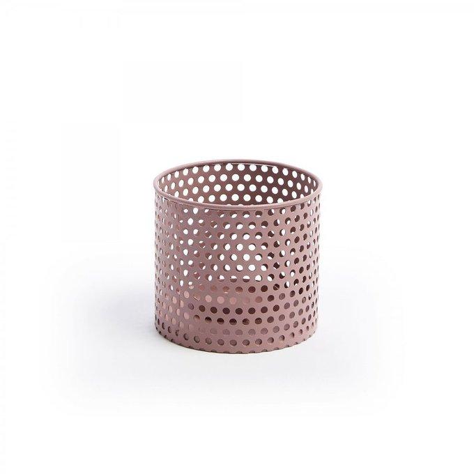 Подсвечник металлический Erran розового цвета