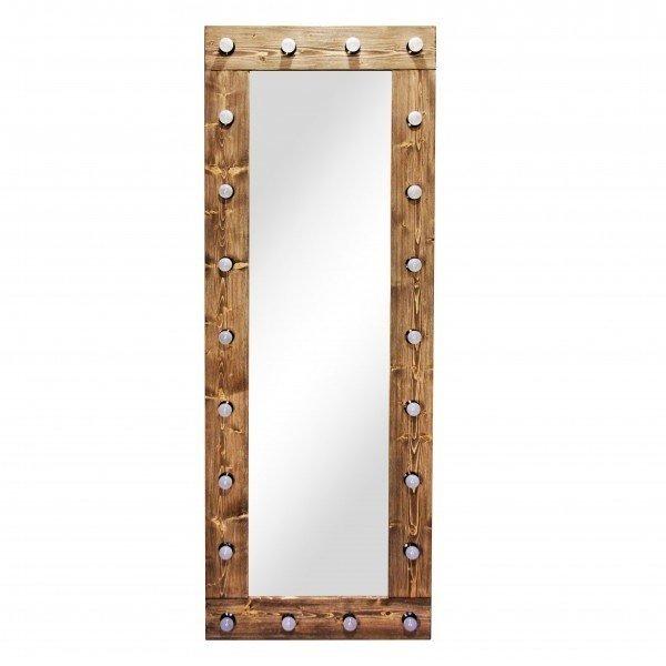 Зеркало с подсветкой Xoak из массива сосны