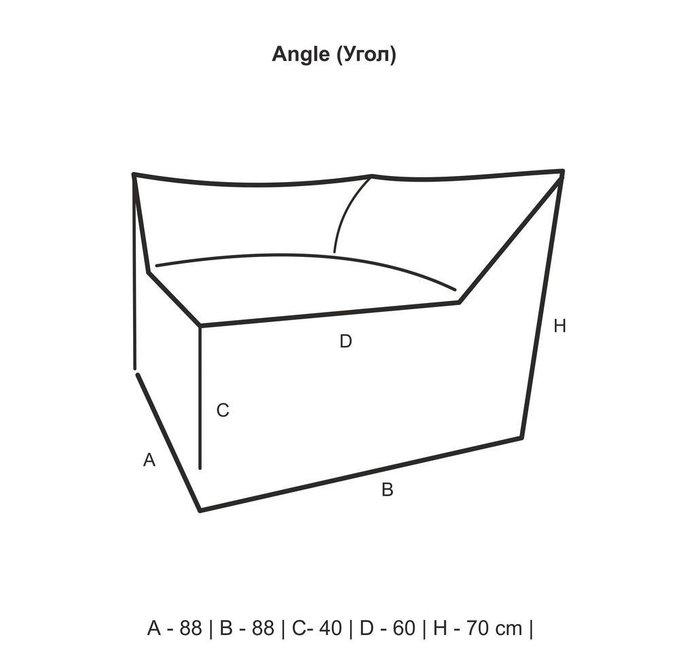 Сет из модулей Angle Velur 3mod зеленого цвета