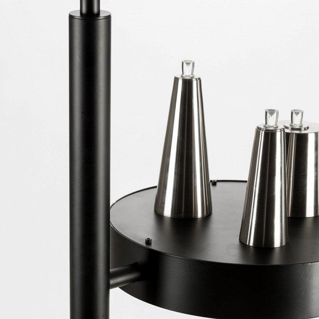 Подвесной светильник Table d'Amis с конусными абажурами из никеля