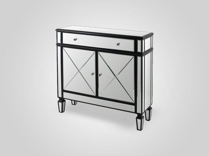 Комод зеркальный с ящиком и дверками