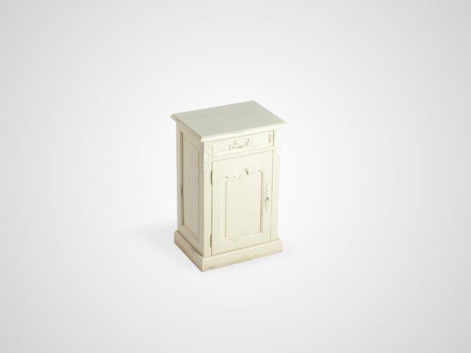 Тумба со старением, дверца украшена резьбой  78x48x35 см