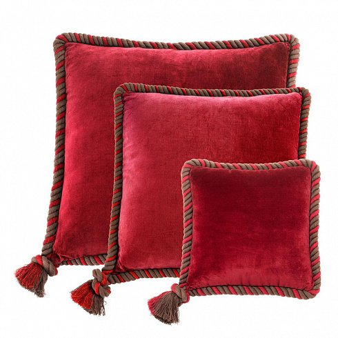 Набор из трех подушек Christallo красного цвета