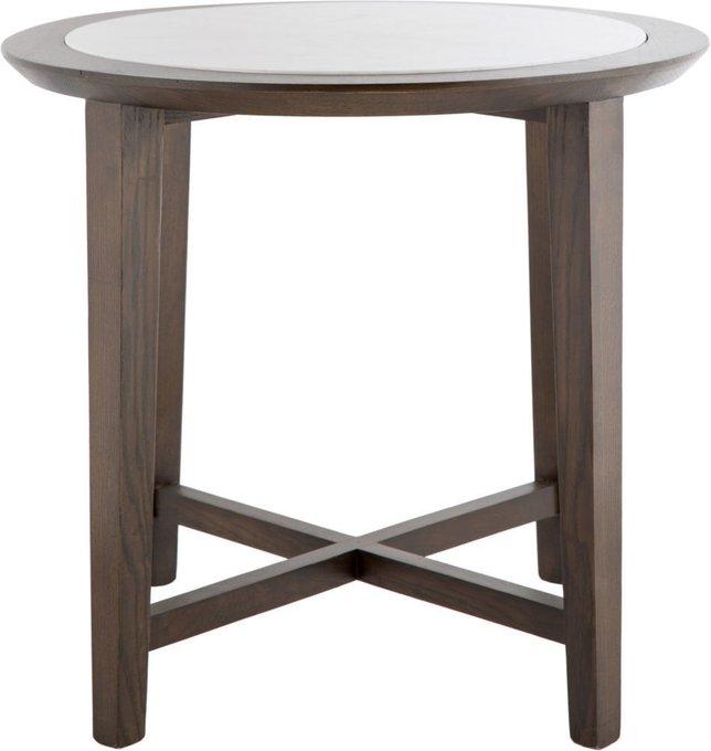 Журнальный столик Mateo из дерева и мрамора