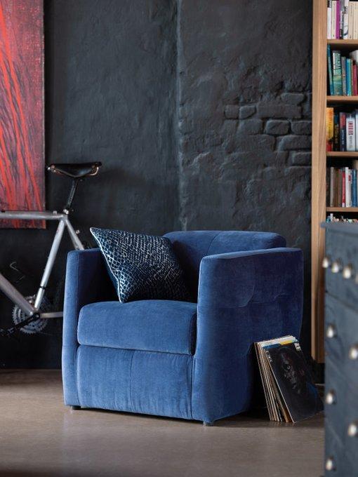 Мягкое кресло Sego синего цвета