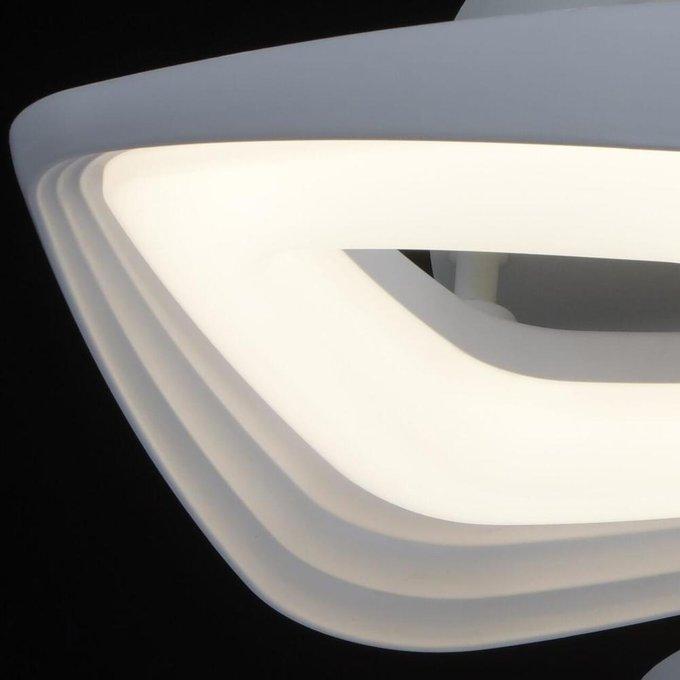 Потолочная светодиодная люстра Аурих белого цвета