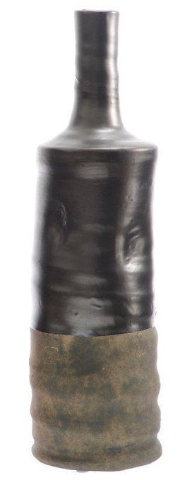 Керамическая ваза серого цвета