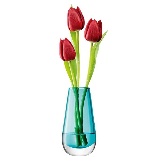 Ваза в форме бутона flower colour бирюзовая