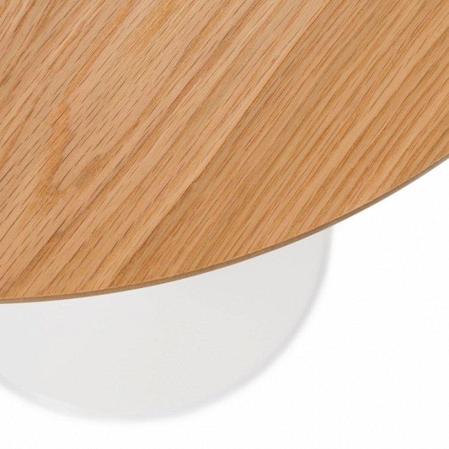 Кофейный стол Tulip Wood с деревянной столешницей