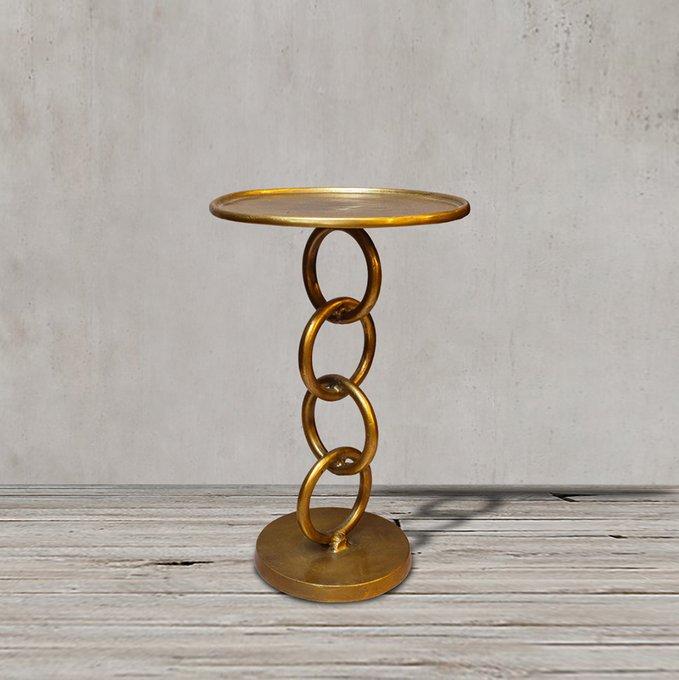 Стол приставной цвета античная латунь