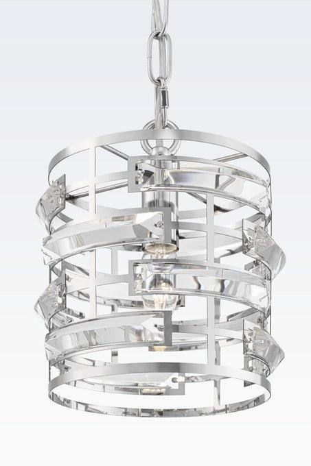 Подвесной светильник Frontera с плафоном из хрустальных пластин