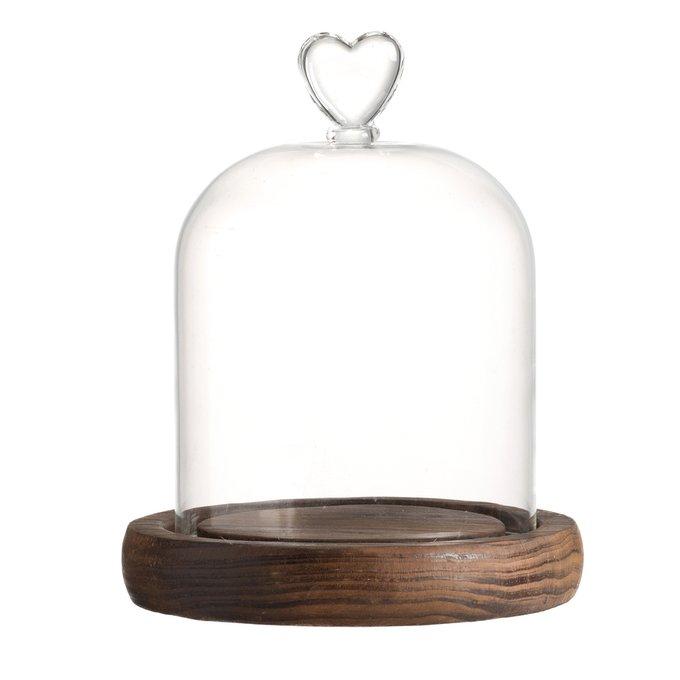 Купол стеклянный Сердце Средний