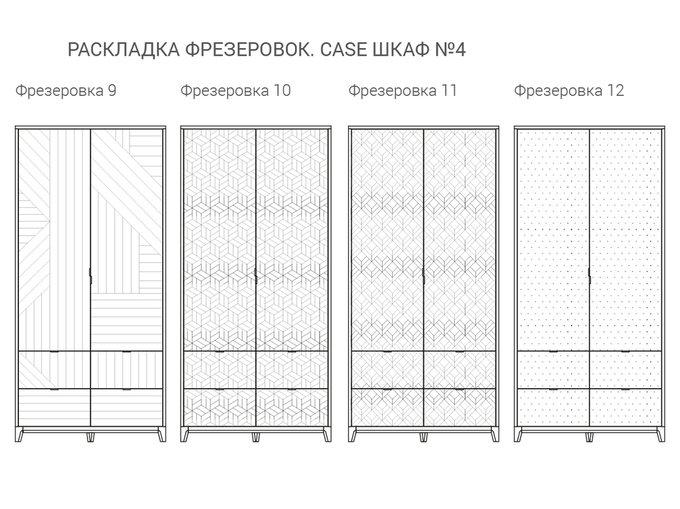 Шкаф Case №4 оливковый / натуральный дуб
