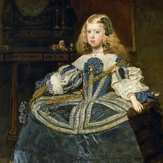 Репродукция Эрмитаж версия 16 Инфанта Маргарита в возрасте 8 лет